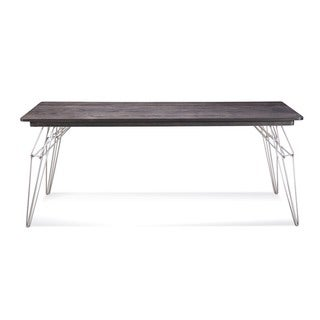 Saloom LEM 42 x 72 Rectangular Maple Smooth Top Dining Table in Rockport Finish