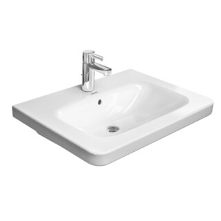 Duravit DuraStyle Vanity Top Porcelain Bathroom Sink 2320650000 White Alpin