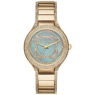 Michael Kors Women's MK3481 Kerry Mother Of Pearl Dial Gold-Tone Stainless Steel Bracelet Watch