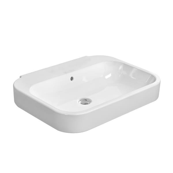 Duravit Happy D Pedestal Shroud Porcelain Bathroom Sink