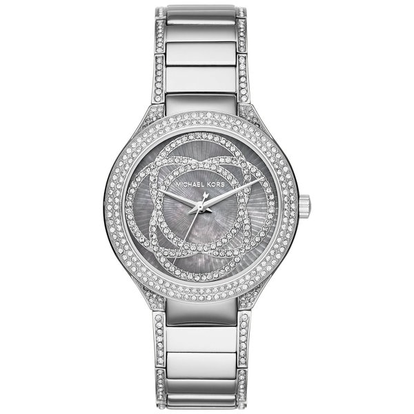 d3553a1d74a7a Michael Kors Women  x27 s Kerry Grey Mother Of Pearl Dial Stainless Steel  Bracelet