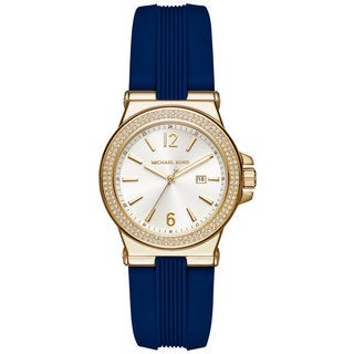 Michael Kors Women's MK2490 Mini Dylan White Dial Blue Silicone Watch