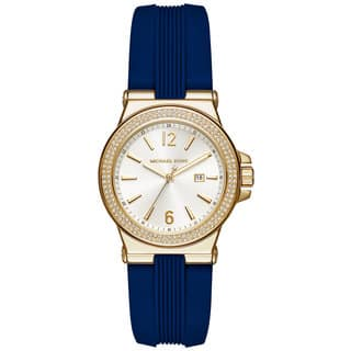 Michael Kors Women's MK2490 Mini Dylan White Dial Blue Silicone Watch|https://ak1.ostkcdn.com/images/products/11520094/P18469433.jpg?impolicy=medium