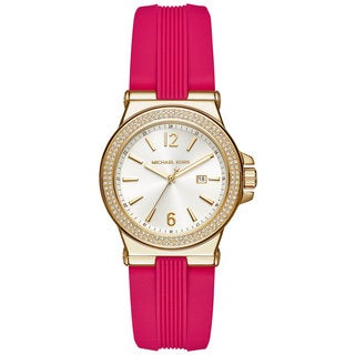 Michael Kors Women's MK2488 Mini Dylan White Dial Pink Silicone Watch
