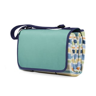 Picnic Time Blanket Tote - St. Tropez Stripes/Aqua Blue