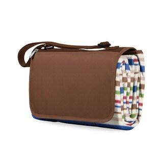 Picnic Time Blanket Tote - Lattice Stripes Brown