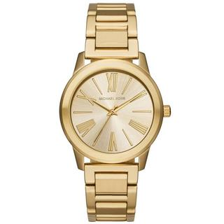 Michael Kors Women's MK3490 Hartman Gold Dial Gold-Tone Stainless Steel Bracelet Watch