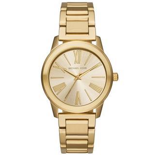 Michael Kors Women's MK3490 Hartman Gold Dial Gold-Tone Stainless Steel Bracelet Watch