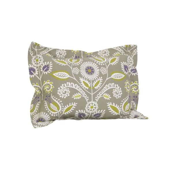 Periwinkle Flange Pillow Sham