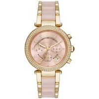 51ab58c4b8a7 Michael Kors Women s MK6326 Parker Chronograph Rose-Tone Gold Dial Two-Tone  Bracelet Watch
