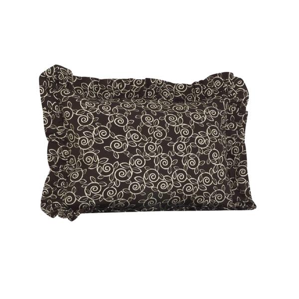 Raspberry Dot Ruffled Pillow Sham