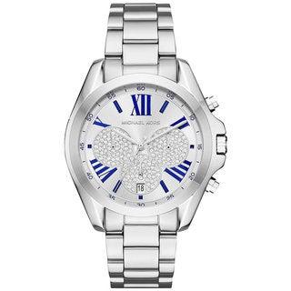 Michael Kors Women's MK6320 Bradshaw Chrongraph Silver Dial Silver-Tone Stainless Steel Bracelet Watch
