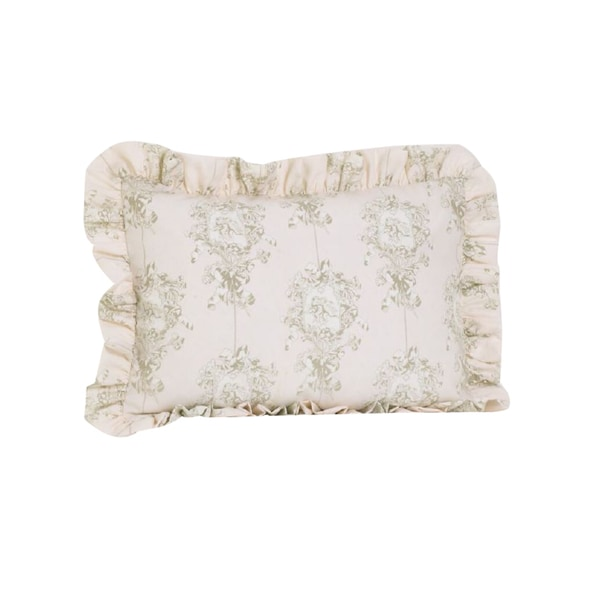Ruffled Pillow Sham Pattern Free: Lollipops and Roses Ruffled Pillow Sham   Free Shipping On Orders    ,