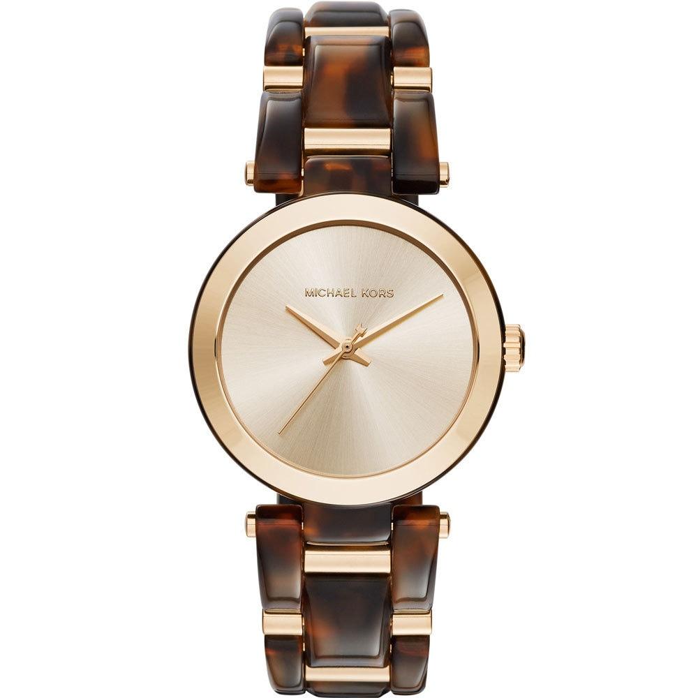 Michael Kors Womens MK4314 Delray Gold Dial Two-Tone Bracelet Watch MK4314