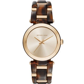Michael Kors Women's MK4314 Delray Gold Dial Two-Tone Bracelet Watch