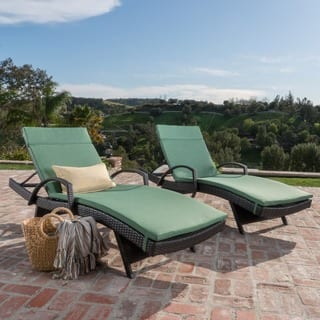 Toscana Outdoor Wicker Armed Chaise Lounge Chair with Cushion by Christopher Knight Home (Set of 2)|https://ak1.ostkcdn.com/images/products/11520159/P18469522.jpg?impolicy=medium