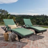 Oliver & James Baishi Outdoor Cushioned Lounge Chair (Set of 2)