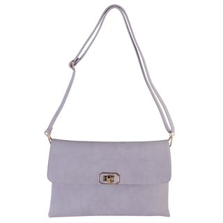 Diophy Faux Leather Simple Crossbody Messenger Handbag