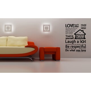 House Rules quote Wall Art Sticker Decal