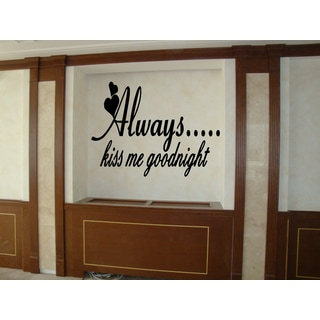 Hearts Always Kiss Me Wall Art Sticker Decal