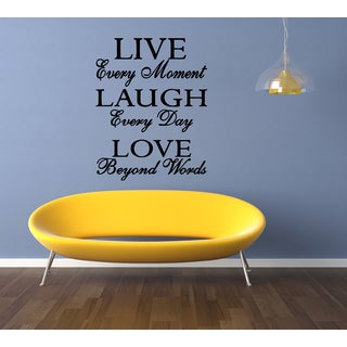 Live Every Moment quote Wall Art Sticker Decal