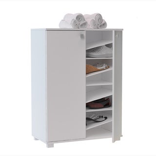 "Accentuations by Manhattan Comfort Sophisticated Navarra ""Z"" Shoe Closet with 8 Shelves (2 options available)"