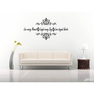 Live Every Moment Inscription Wall Art Sticker Decal