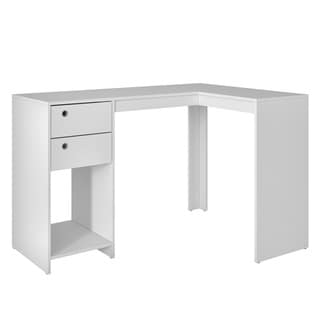 """Accentuations by Manhattan Comfort Modest Palermo Classic """"L"""" Shaped Desk with 2 Drawers and 1 Cubby"""