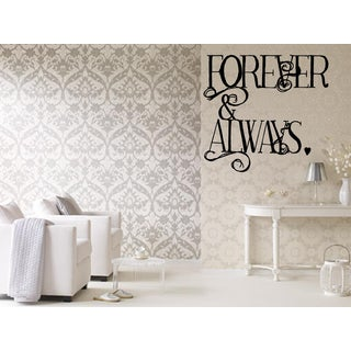 Always & Forever Beautiful words Wall Art Sticker Decal