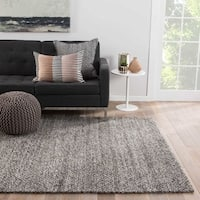 """Daven Handmade Solid Gray/ Silver Area Rug (9' X 12') - 8'10"""" x 11'9"""""""