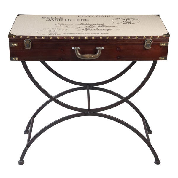 Belle jardinier trunk console table bronze canvas for Jardinier 78