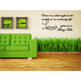Love Gives Us a Fairy Tale Wall Art Sticker Decal