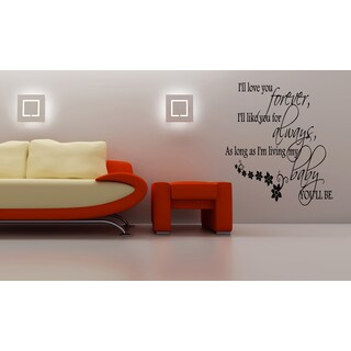 Forever and For Always quote Wall Art Sticker Decal