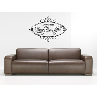 Happily Ever After The inscription in the frame Wall Art Sticker Decal