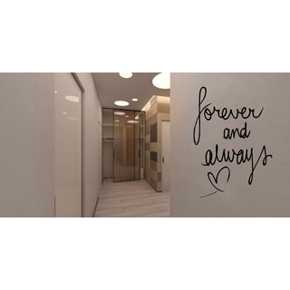 Forever and Always heart Wall Art Sticker Decal