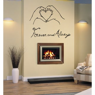 Forever and Always heart in hand Wall Art Sticker Decal