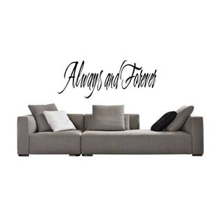 Just Forever and Always Wall Art Sticker Decal