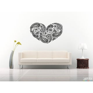 Beautiful Flower Heart Wall Art Sticker Decal