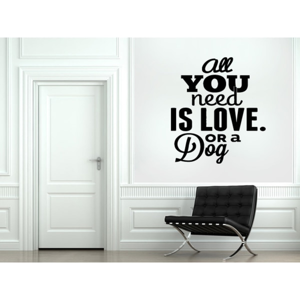 Shop Quotes and sayings All You Need Love Wall Art Sticker Decal ...