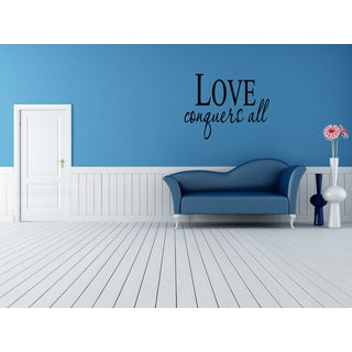 Love Conquers All Wall Art Sticker Decal