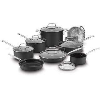 Cuisinart Chef's Classic Nonstick Hard Anodized 14-Piece Cookware Set, Black