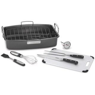 Cuisinart Nonstick 8-Piece Roasting Ovenware, Black/Stainless