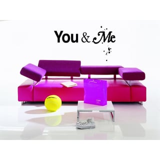 Together and forever You and Me quote Wall Art Sticker Decal