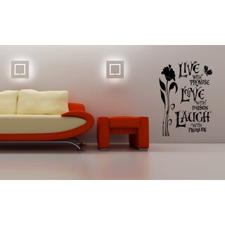 Flower To Love and to Cherish Wall Art Sticker Decal