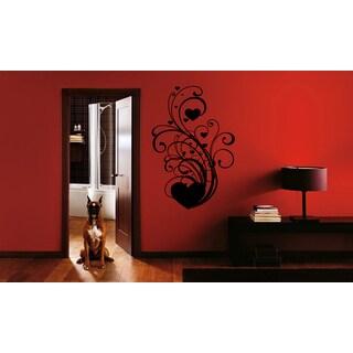 Flower Heart beauty Wall Art Sticker Decal