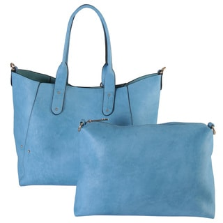 Diophy Faux Leather Simple Design Bag in Bag Tote Handbag
