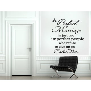 A Perfect Marriage quote Wall Art Sticker Decal