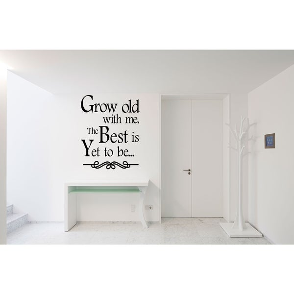 Shop Grow Old With Me The Words Wall Art Sticker Decal Free