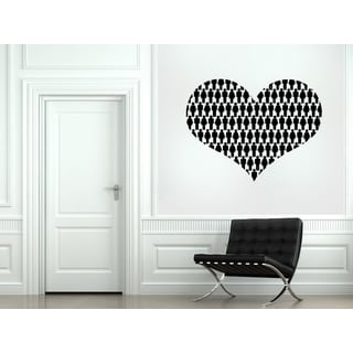 Many people Heart Wall Art Sticker Decal