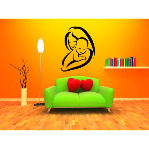 Shop Mother and Child Wall Art Sticker Decal - Free Shipping On ...